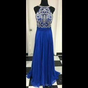 Mac Duggal Beaded Jeweled Gown Size 10